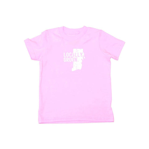 Locally Grown Clothing Co. Kids Rhode Island Solid State Tee