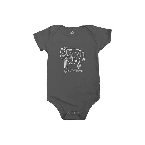 Locally Grown Clothing Co. Lil' Cow One-piece
