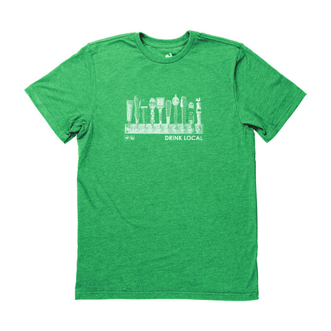Locally Grown Clothing Co. Men's Drink Local-Taps Tee