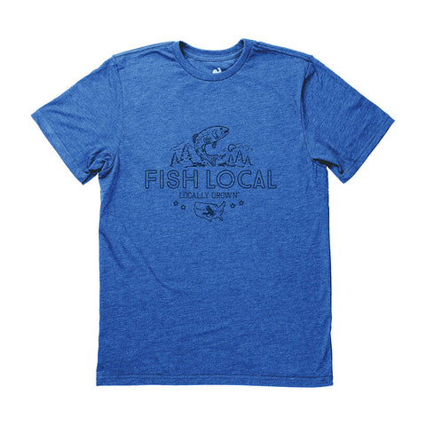 Locally Grown Clothing Co. Men's Fish Local Tee