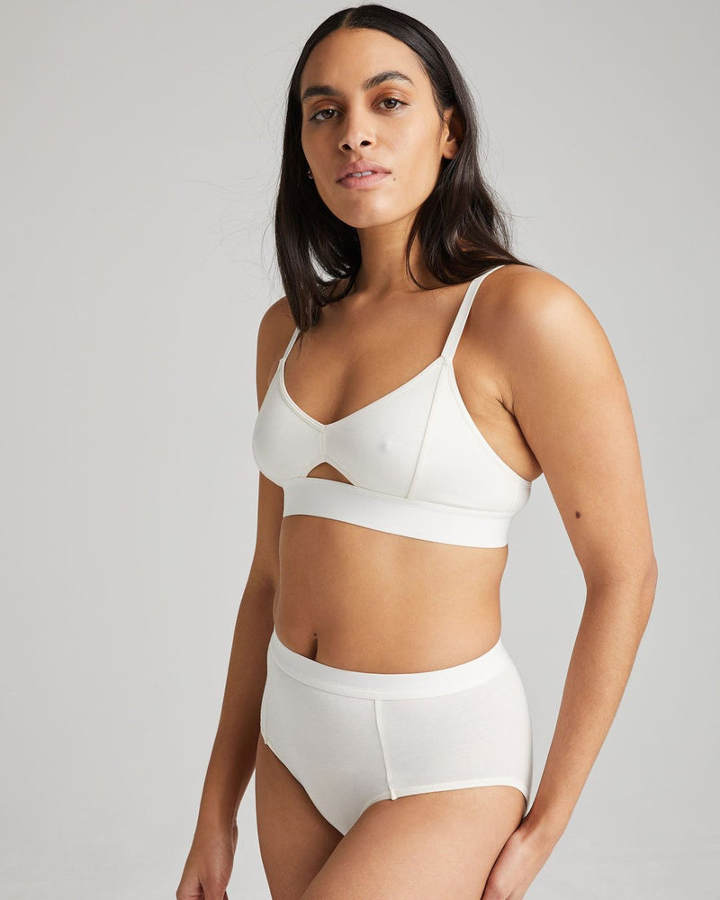 Richer Poorer - Cutout Bralette - Bone