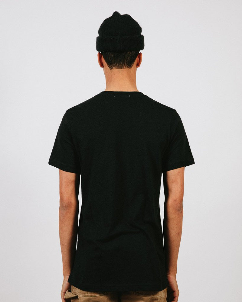 CAMP BRAND GOODS - HERITAGE LOGO T-SHIRT // BLACK