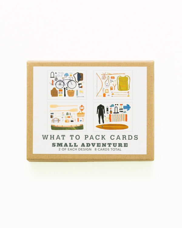 Small Adventures - What to Pack Card Set