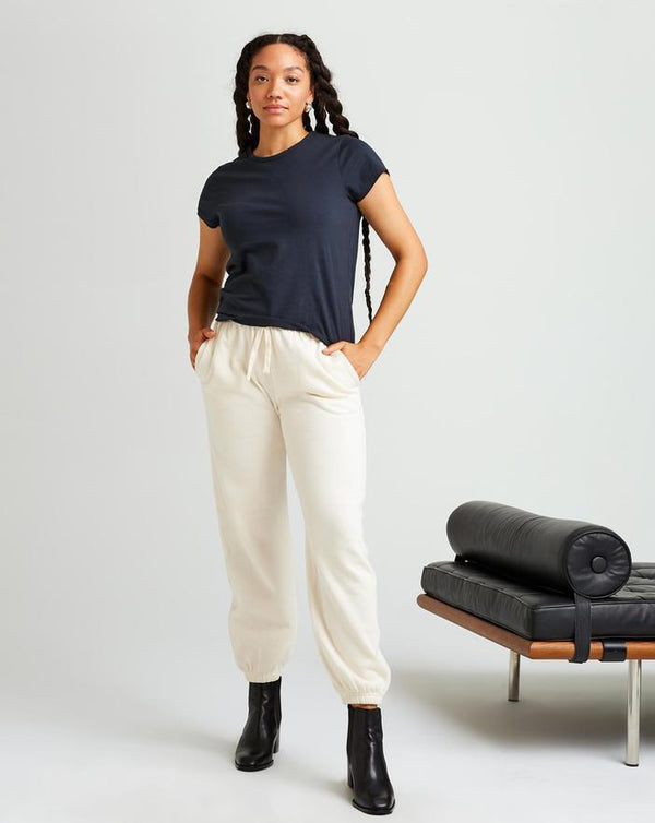 Richer Poorer - Recycled Fleece Sweatpant - Bone