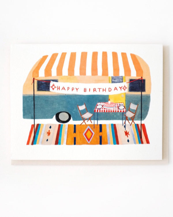 Small Adventures - Camper Trailer Birthday Card