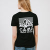 CAMP BRAND GOODS - HERITAGE LOGO RELAXED T-SHIRT // BLACK HEATHER