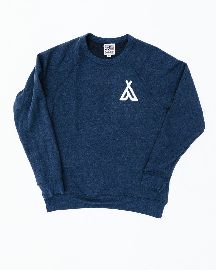 CAMP BRAND GOODS - CAMPERS CREWNECK // TRI NAVY