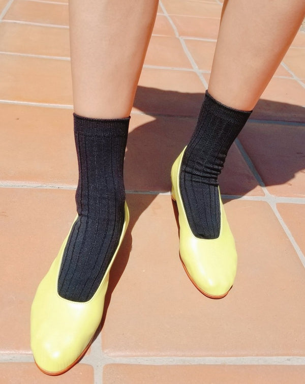 Le Bon - Cotton Her Sock - True Black