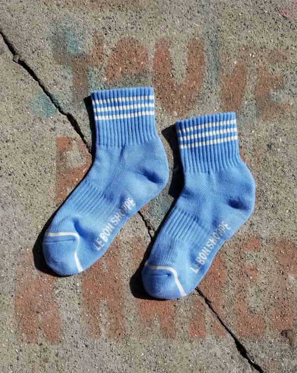Le Bon Shoppe - Girlfriend Sock - Parisian Blue
