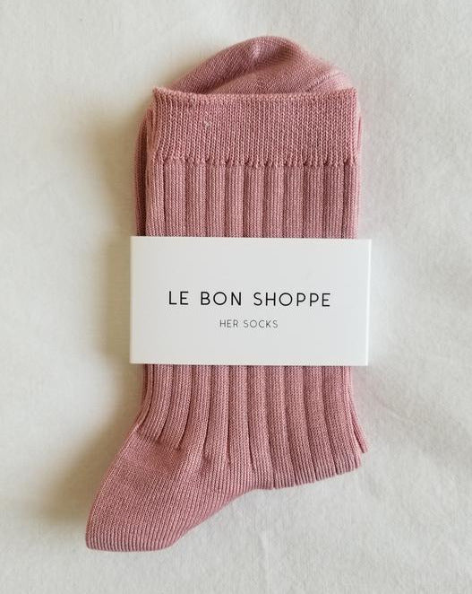 Le Bon Shoppe - Cotton Her Sock - Desert Rose