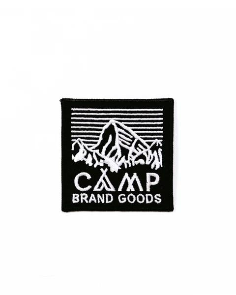 "Camp Brand Goods - 2"" Heritage Logo Patch // Black"