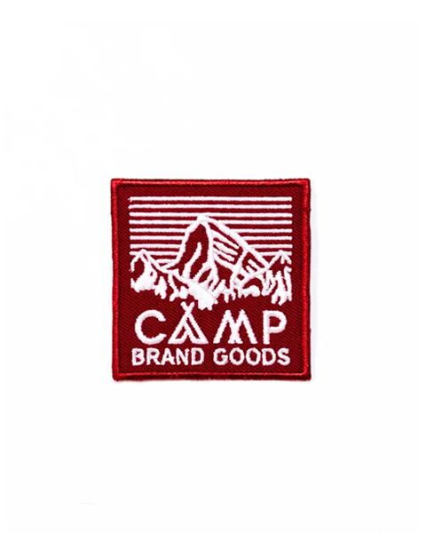"Camp Brand Goods - 2"" Heritage Logo Patch // Maroon"