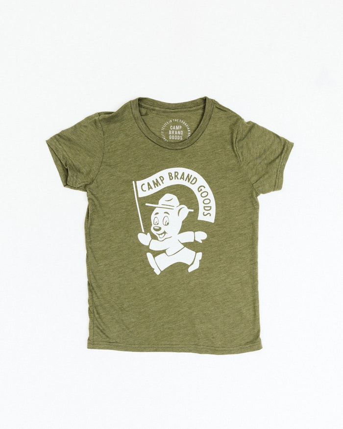 CAMP BRAND GOODS - KIDS RANGER T-SHIRT // TRI OLIVE