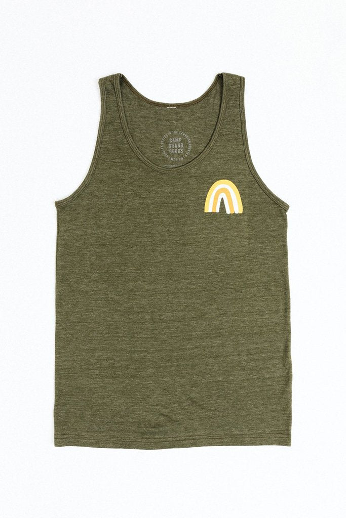 CAMP BRAND GOODS - UNDER THE RAINBOW TANK TOP // TRI MOSS