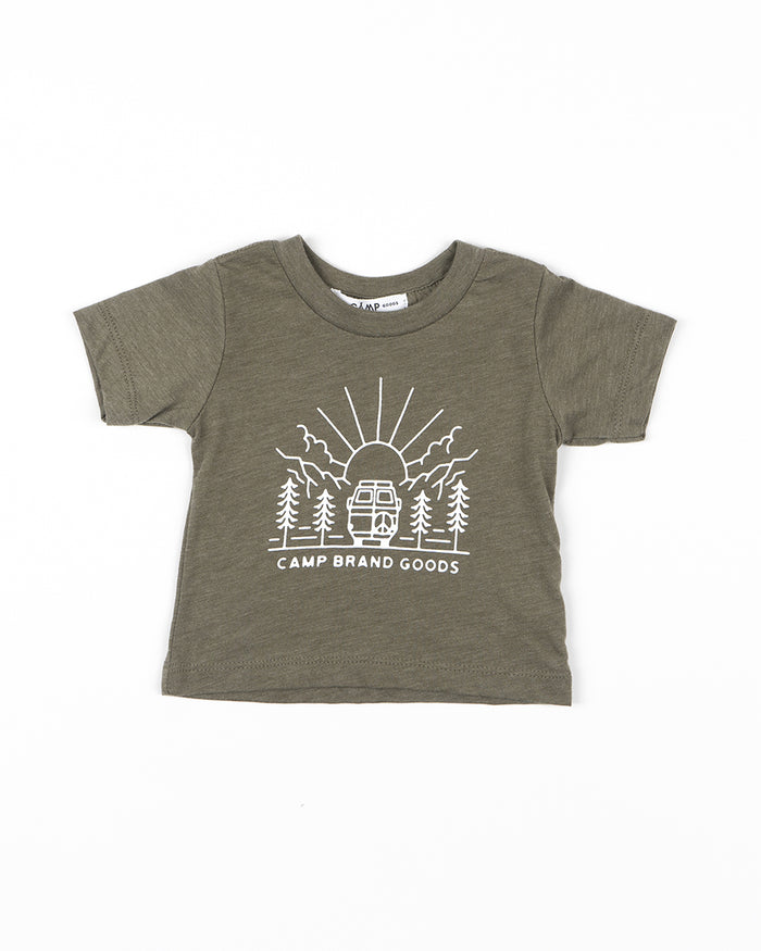 CAMP BRAND GOODS - TODDLER GOING TO THE SUN T-SHIRT // OLIVE