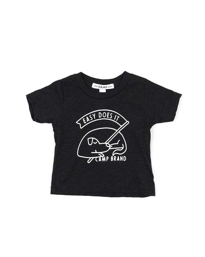 CAMP BRAND GOODS - BABY GOOD DOG T-SHIRT // CHARCOAL