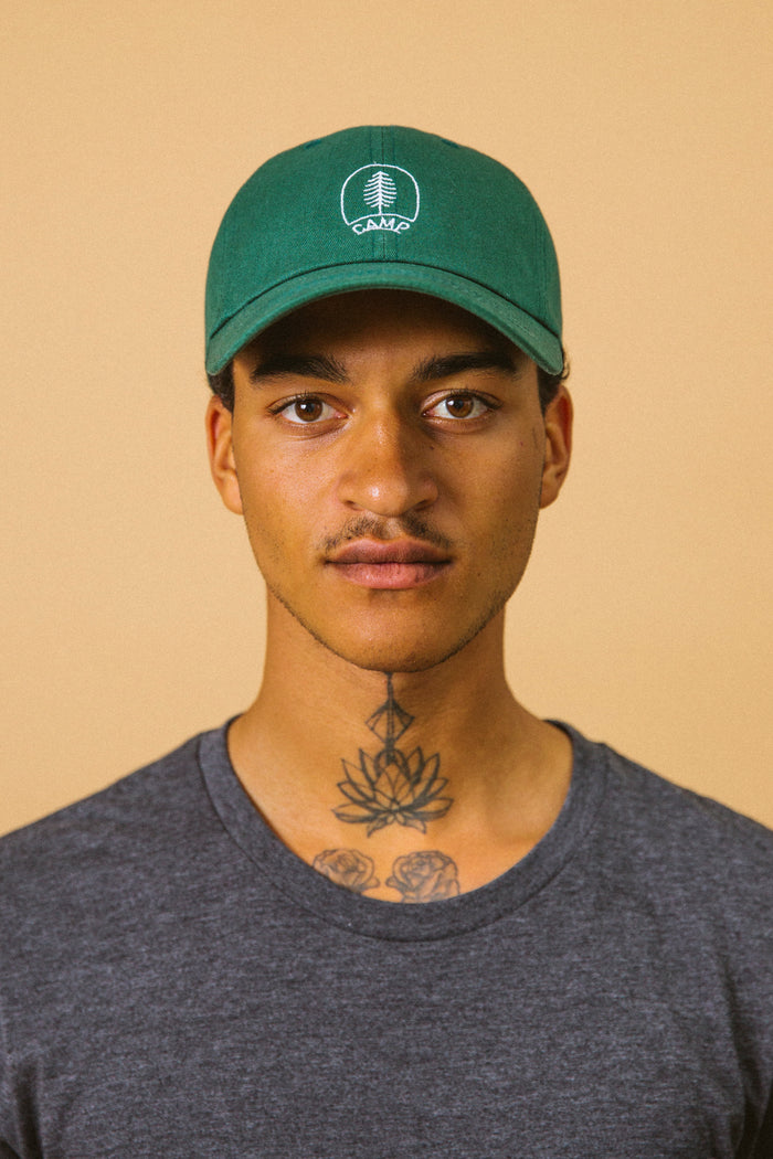 CAMP BRAND GOODS - BOREAL DAD CAP // GREEN