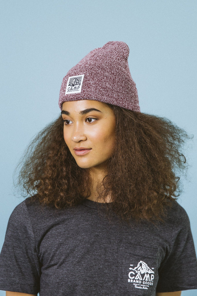 Camp Brand Goods - Heritage Logo Toque // Maroon Marl
