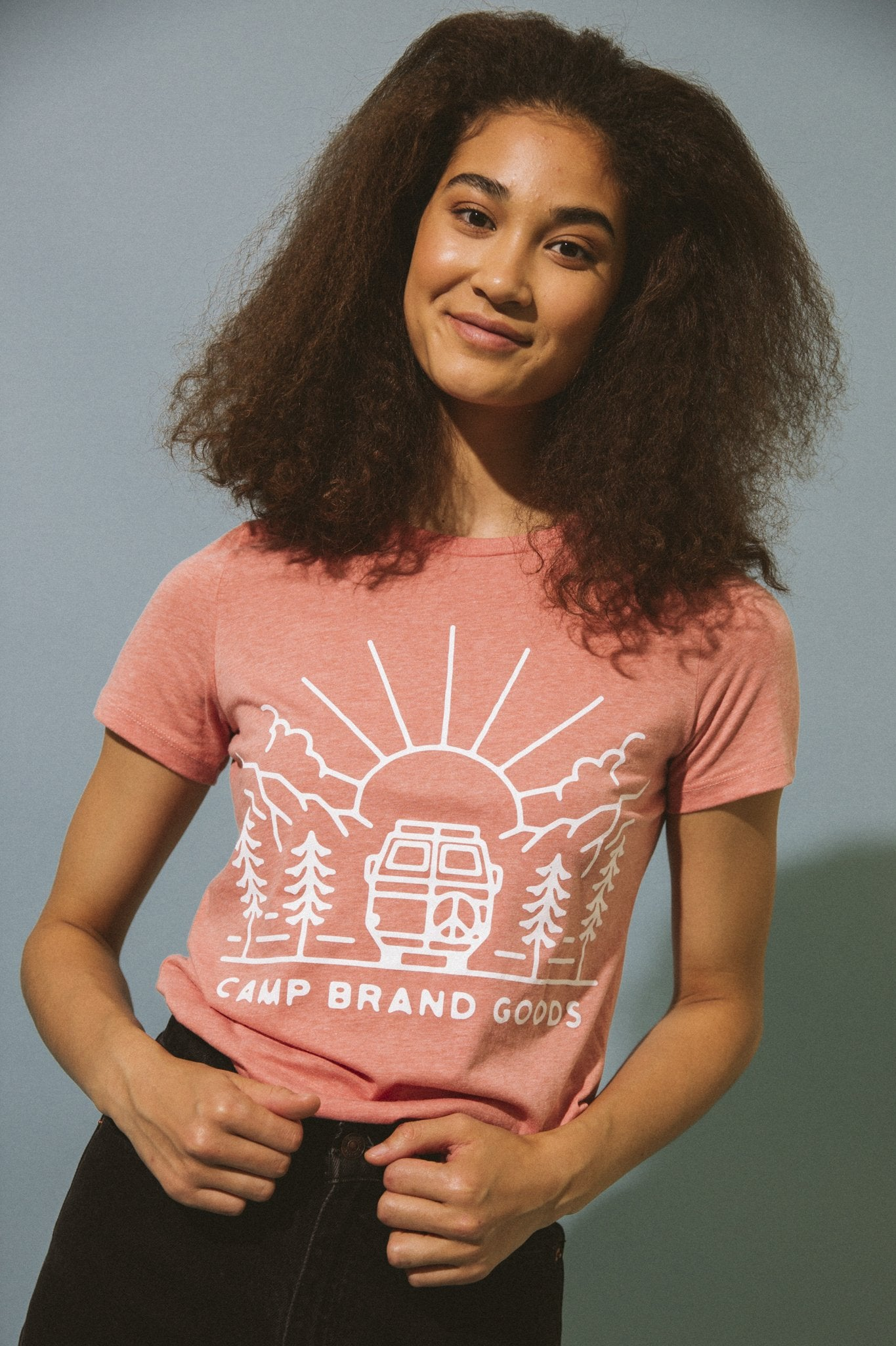 CAMP BRAND GOODS - GOING TO THE SUN RELAXED T-SHIRT // SUNSET HEATHER