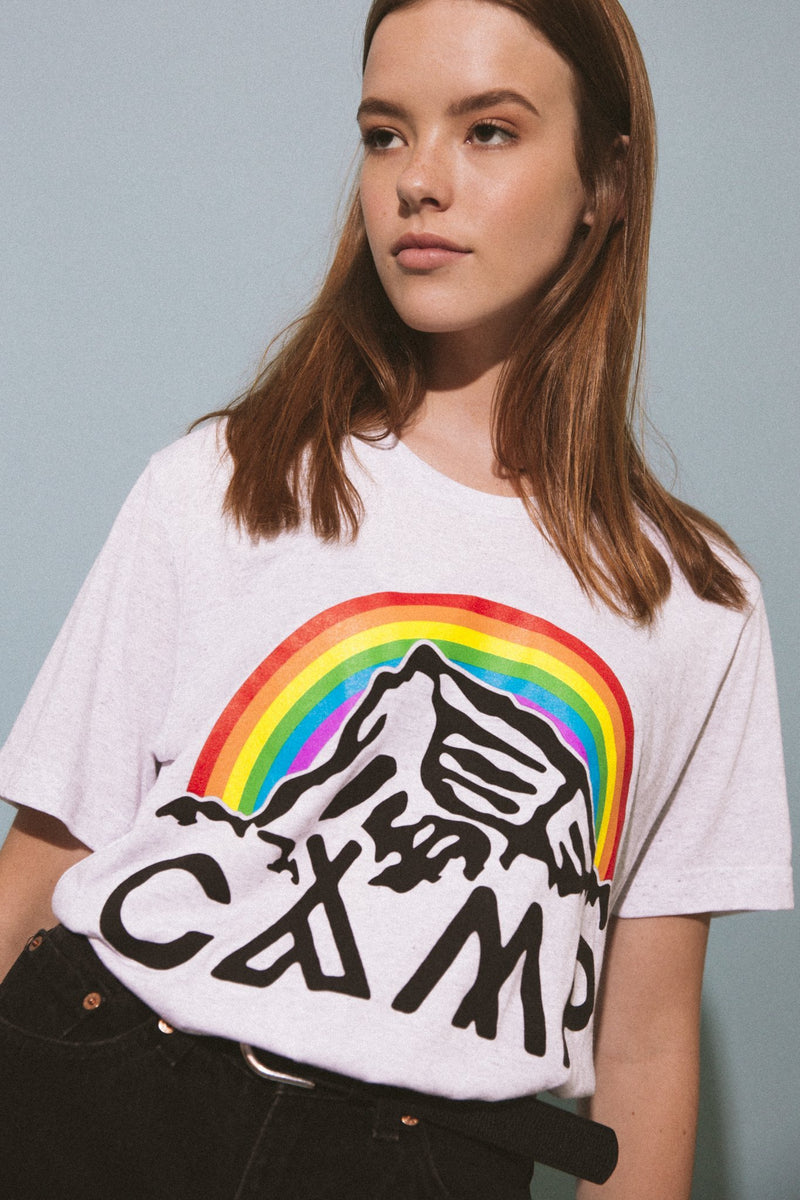 Camp Brand Goods - In It Together T-Shirt // Tri White Fleck