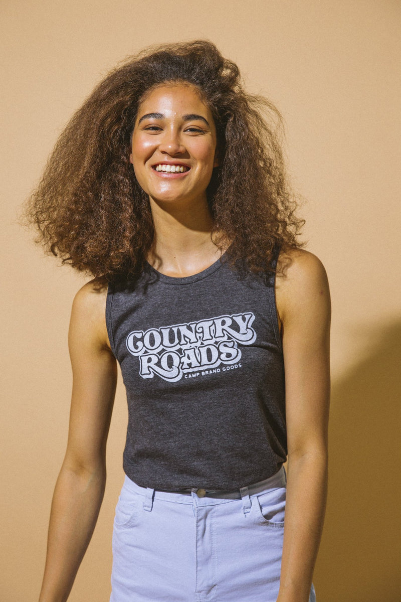SALE - Camp Brand Goods - Country Roads Muscle Tank Top // Dark Grey