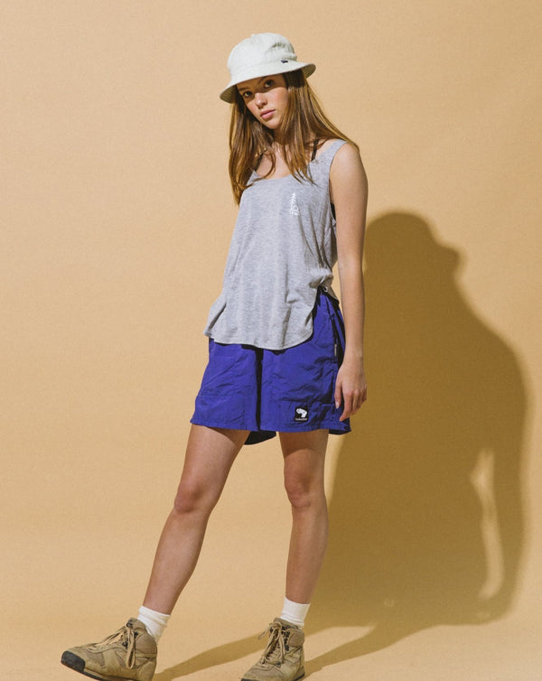 Camp Brand Goods - In Tents Slit Tank Top // Athletic Grey