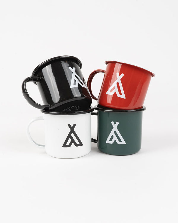 Camp Brand Goods - Campers Logo Enamel Mug 12 Oz // 4 Pack