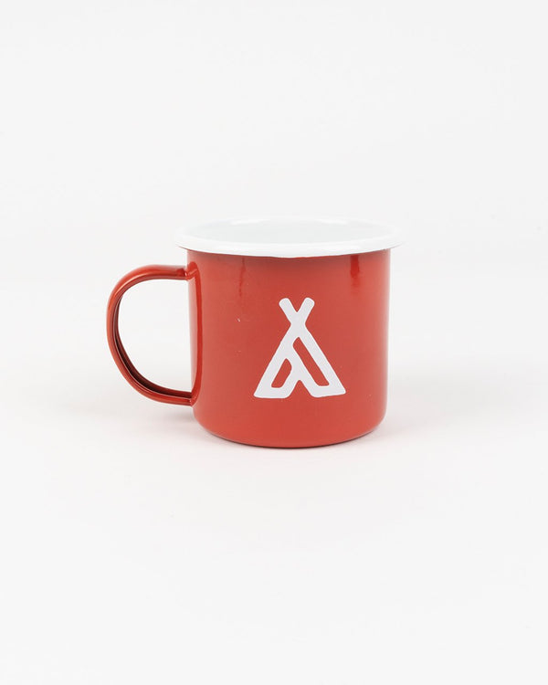 Camp Brand Goods - Campers Logo Enamel Mug 12 Oz // Red