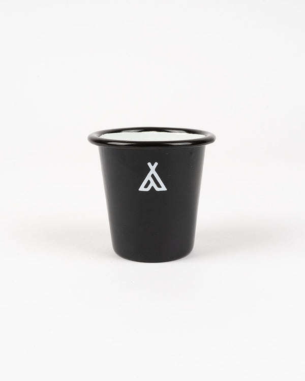 Camp Brand Goods - Campers Logo Enamel Tumbler // Black