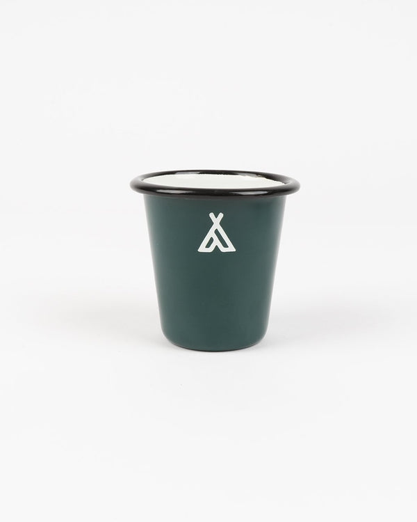 Camp Brand Goods - Campers Logo Enamel Tumbler // Forest Green