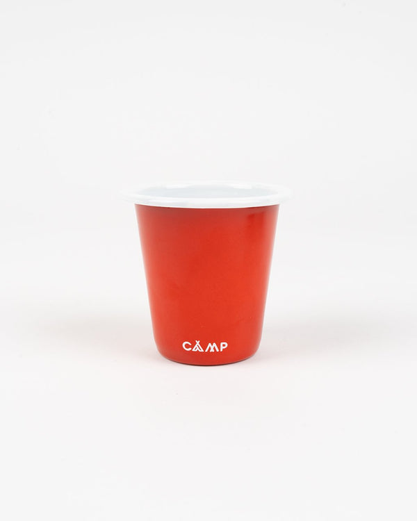 Camp Brand Goods - Campers Logo Enamel Tumbler // Red