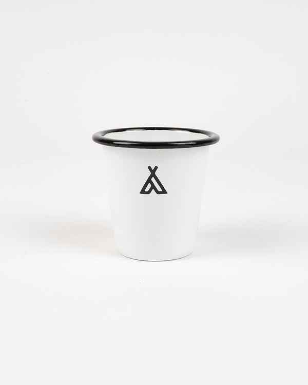 SALE - Camp Brand Goods - Campers Logo Enamel Tumbler // White