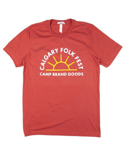 Camp Brand Goods - Camp x Folk Fest T-Shirt // Rust