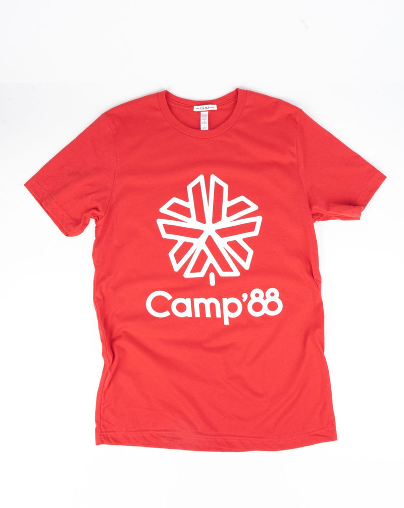 SALE - Camp Brand Goods - Camp'88 T-Shirt // Red