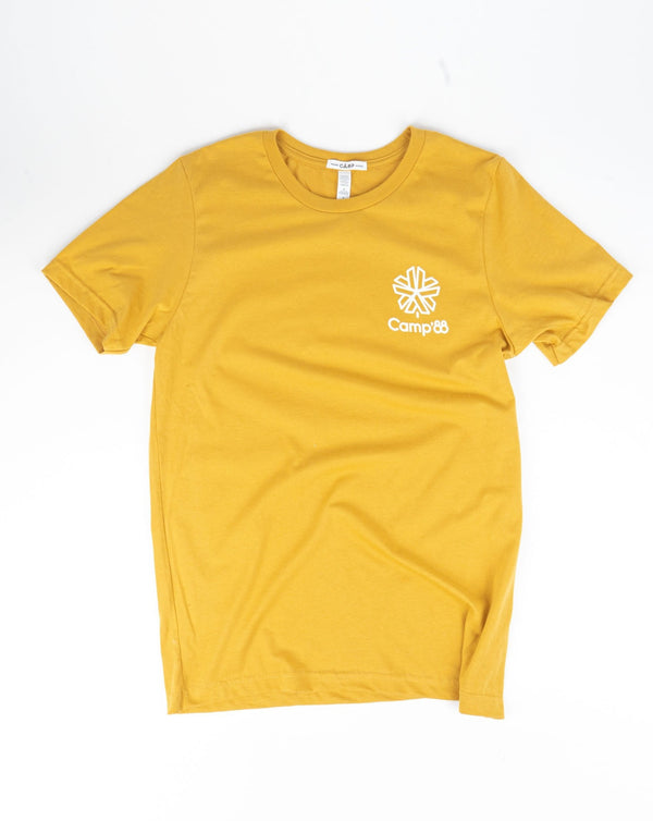 SALE - Camp Brand Goods - Camp'88 T-Shirt // Mustard