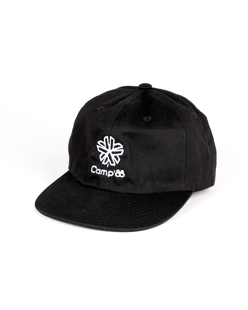 Camp Brand Goods - Camp'88 Unstructured 6 Panel Cap // Black