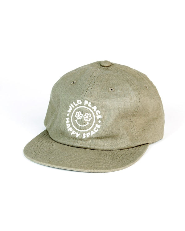 Camp Brand Goods - Happy Space Unstructured 6 Panel Cap // Moss Green