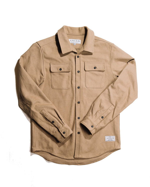 Anian - Twill Overshirt - Tan