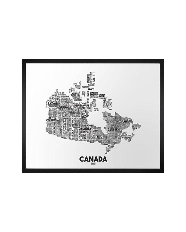 Damon D Chan -  Canada Cities Map -  8X10 Print