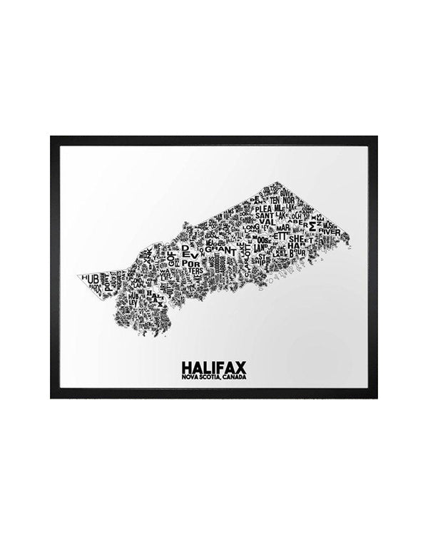 Damon D Chan -  Halifax Neighbourhood Map -  11X14 Print