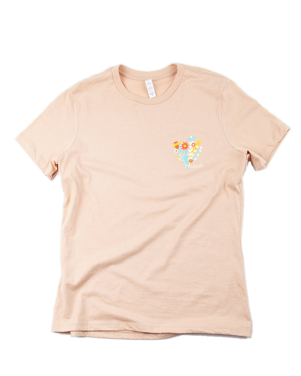 Camp Brand Goods - Flower Power Relaxed T-Shirt // Sand Dune