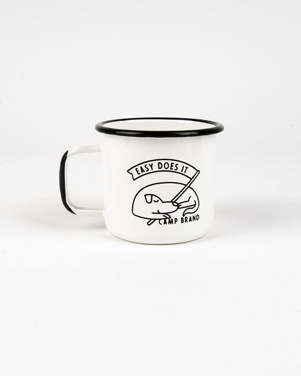Camp Brand Goods - Good Dog Enamel Mug 16 Oz // White