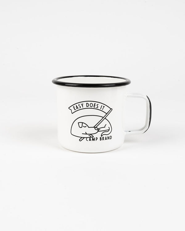 SALE - Camp Brand Goods - Good Dog Enamel Mug 16 Oz // White