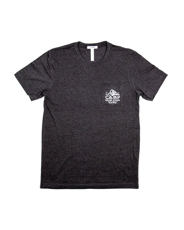Camp Brand Goods - Peak Pocket T-Shirt // Dark Grey Heather
