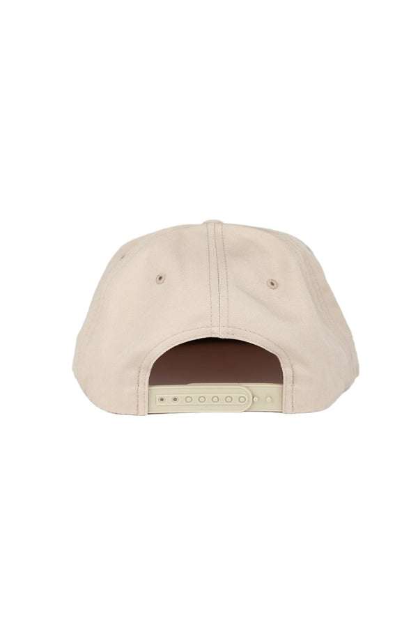 Camp Brand Goods - Happiest Camper Snapback Hat // Beige