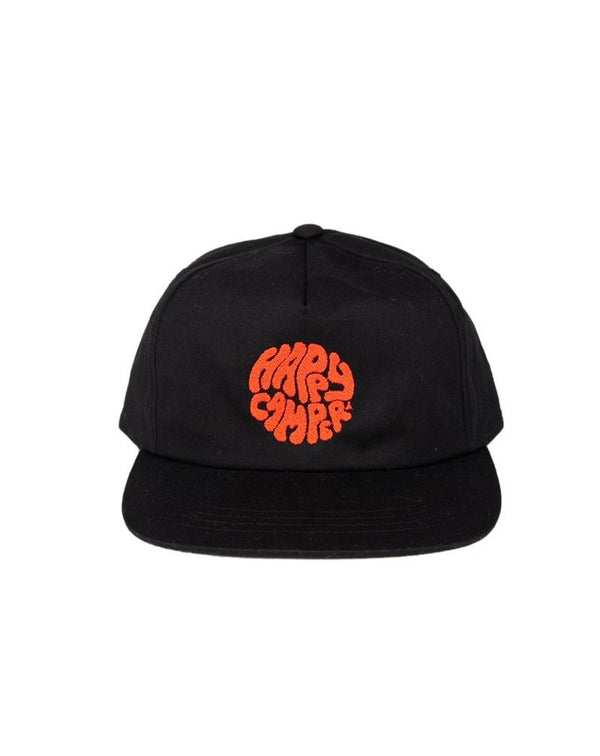 Camp Brand Goods - Happiest Camper Snapback Hat // Black