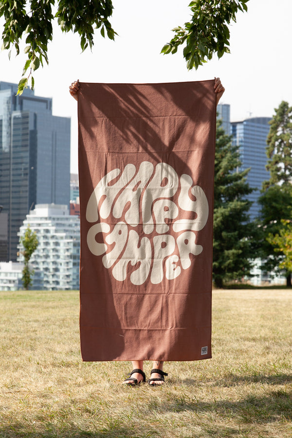 Camp Brand Goods - Happiest Camper Beach Towel // Mauve