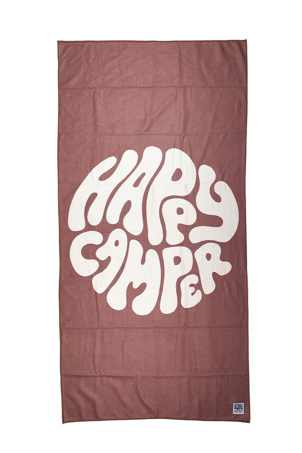 Happiest Camper Beach Towel // Mauve