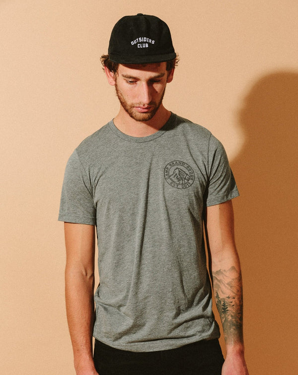 Camp Brand Goods - Heritage Crest T-Shirt // Tri Grey