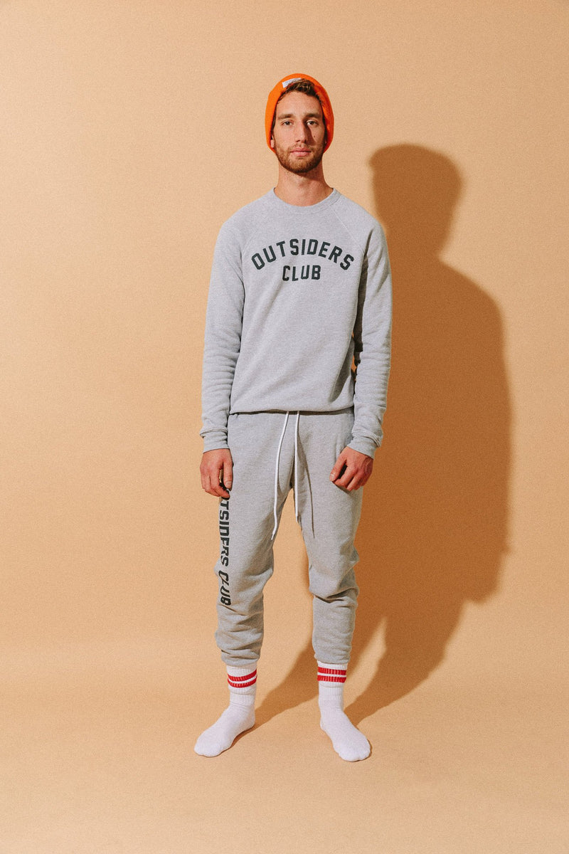 Camp Brand Goods - Outsiders Club Jogger // Athletic Grey